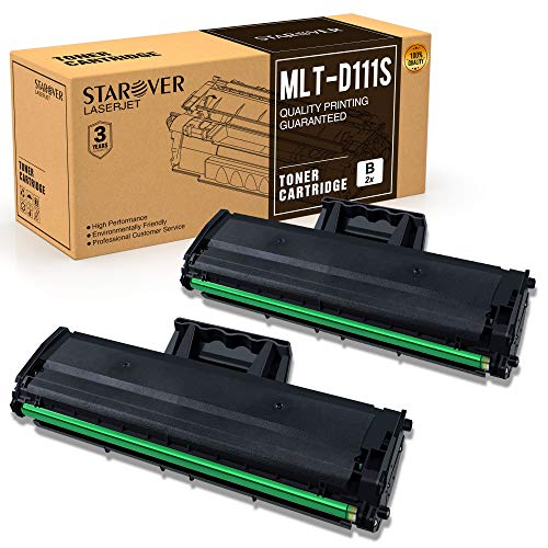STAROVER Compatible Toner Cartridges Replacement for Samsung 111S 111L MLT-D111S MLT-D111L for Samsung Xpress SL-M2070W SL-M2070FW SL-M2020W SL-M2022W SL-M2020 SL-M2070 Series Printer - 2 Black