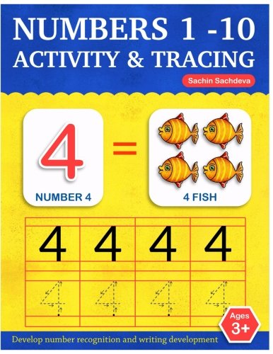 Numbers 1-10: Activity and Tracing Workbook for Kids Ages 3-5