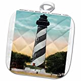 Anastasia Light house, St. Augustine, Florida Potholder is perfect for daily use, while coordinating well with any kitchen décor. This 8 by 8 inch, 50/50 cotton/polyester blend, pot holder features a quilted design which allows for more flexi...