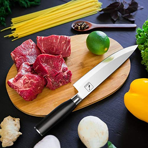 Imarku 8 Inch Pro Chef's Knife,German High Carbon Stainless Steel Kitchen Knife with Sharp Single Bevel Blade and Ergonomic Handle by iMarku (Image #6)