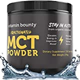 MCT Oil Powder with Organic Acacia Fiber - 0g Net Carbs - Perfect for Coffee Creamer, Smoothies & Sustained Energy, Stay in Keto. 30 Servings