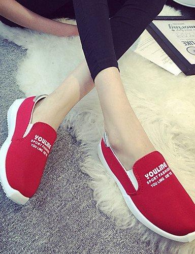 ShangYi libero lavoro Casual Red Rosso Di Donna Mocassini Tempo e Blu Nero Ufficio Piatto corda Formale Scarpe Ballerina r0fIr