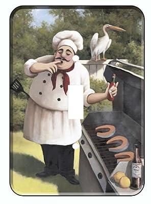 BBQ Fat Italian Chef Wine Single Switchplate Light Cover