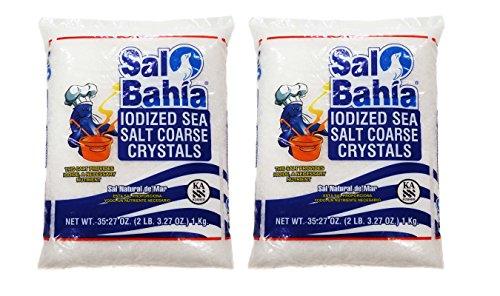 Sal Bahia Iodized Sea Salt Coarse Crystals 35.27oz - 2 PACK by Sal Bahia
