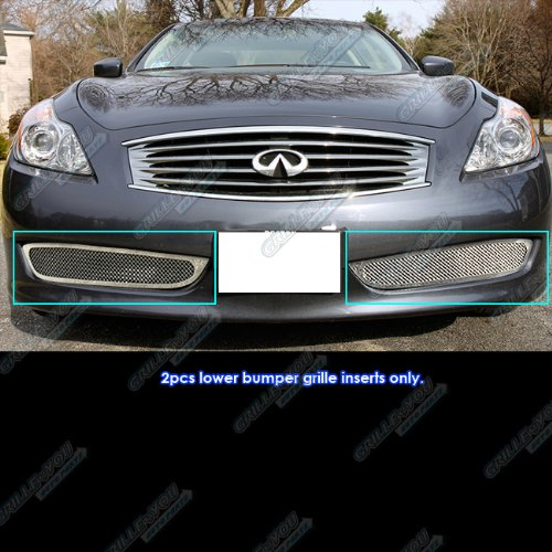 Coupe Mesh Grille - APS 08-10 Infiniti G37 Coupe Bumper Mesh Grille Insert #S18-T63257N