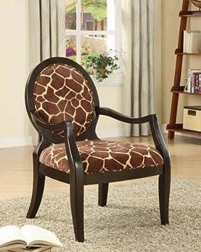 Sophia s Galleria Home Decor Accent Chair, Giraffe Print