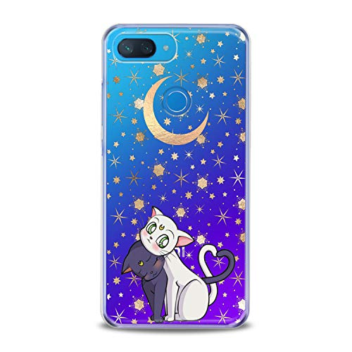 Lex Altern Xiaomi Redmi Note 6 Pro TPU Case 6A 5 Plus 5A 4A 4X S2 F1 Cute Black Cats Clear Kawaii Animal Cover White Kitten Silicone Adorable Protective Themed Transparent Kids Girl Present Women -