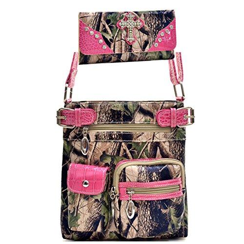 Pink Camouflage Messenger Bag - 8