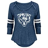 NFL Junior Girls Relaxed 3/4 Thermal Top, Chicago Bears, Deep Obsidian, M(7-9)