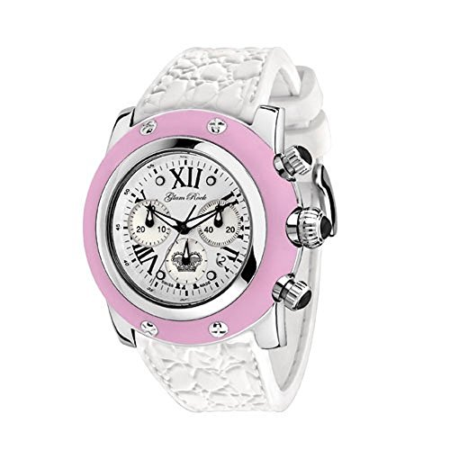 Glam Rock Women's GR30108RW Summer Collection Chronograph Pink Silicone Watch by Glam Rock