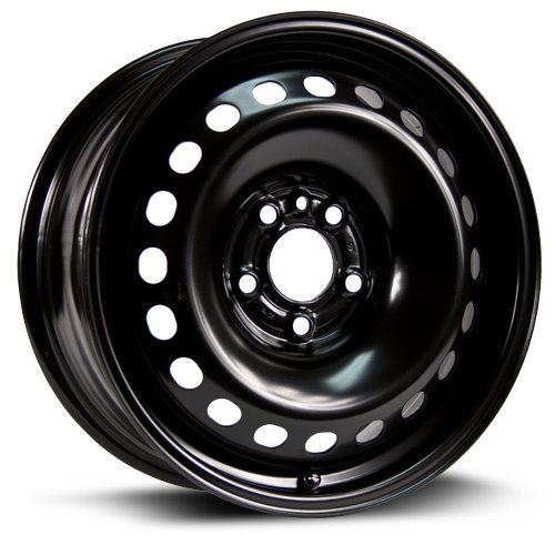Aftermarket Steel Rim 16X7, 5X110, 65.1, +39, black finish (MULTI APPLICATION FITMENT) X46510