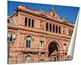 Ashley Giclee Casa Rosada Building In Buenos Aires Argentina wall art poster print for bedroom, ready to frame, 16x20 Print