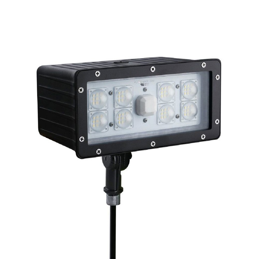 70W LED Flood Light, YUNDOO Dark Bronze Flood Light Outdoor Fixture OWN Driver 100~277V, Lumileds 5000K, Waterproof IP65, 5 Years Warranty, UL-Listed and DLC-Qualified Shipped From US by YUNDOO