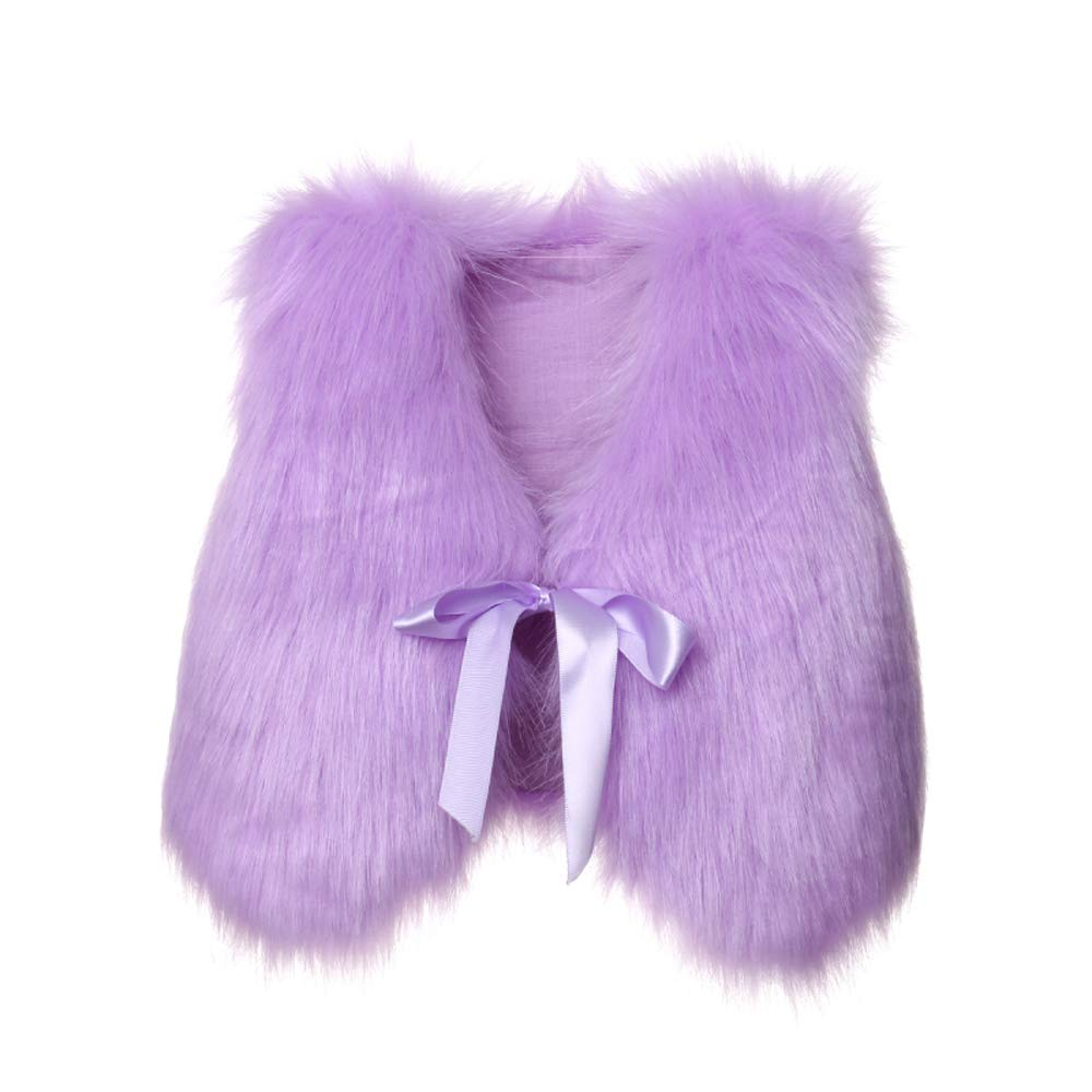 Pybcvrrd Kids Girls Waistcoat Faux Fur Vest Coat Jacket Thick Warm Outerwear for 1-5T