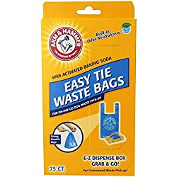 75-Pack, Blue Easy Tie Waste Bags