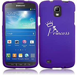 Samsung Galaxy S4 ACTIVE i537 Snap On 2 Piece Rubber Hard Case Cover Princess with Crown (Purple)