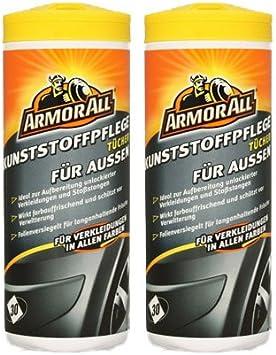 Armor All 2x Kunststoff Tücher Kunststoffpflege Außen 30 Stk Auto