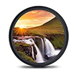 waka 58mm UV Filter, Ultra Slim 16 Layers Multi Coating UV Protective Lens Filter for Canon Nikon Sony DSLR Camera Lens