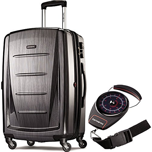 Samsonite 56846-1174 Winfield 2 Fashion HS Spinner 28 Inch - Charcoal Bundle with Manual Luggage Scale (Winfield 2 Fashion Hardside Spinner Luggage 28)