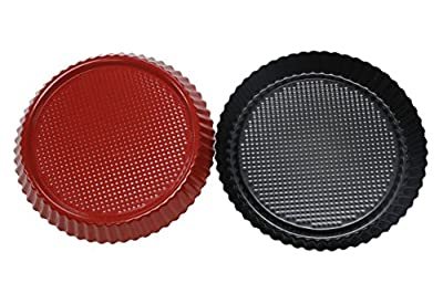Webake 2 Pack Pizza Pan 9 inch Non-stick Quiche Pie Pan