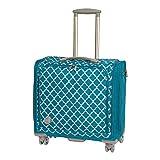 Fun Express - We R 360 Crafter's Rolling Bag Aqua - Craft Supplies - Scrapbooking - Storage - 1 Piece