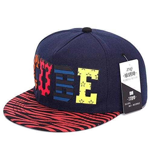 AxiEr Fashion Snapback Hip-Hop Hat Flat Peaked Baseball Cap for Four Seasons