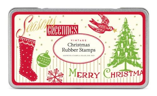 Cavallini & Co. Christmas Rubber Stamp Set