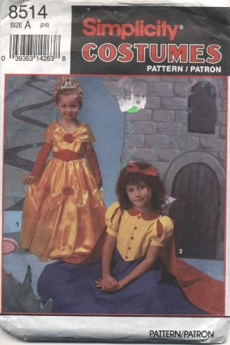 Simplicity Childrens Costumes Fairy Tale Princess Sewing Pattern # 8514 -