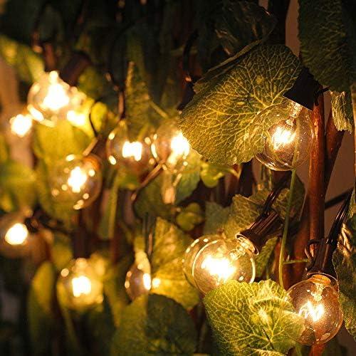 SQWK25 LED Hochzeit String Fairy Light Weihnachten LED Globe Girlande Birne LED Fairy String Light Outdoor Party Garten Girlande 220V UK Stecker warmweiß