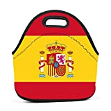 Flag of Spain Spanish Lunch Bag Bento Pouch Lunchbox Portable Baby Bag Multifunctional Satchel Tote for Outdoor Tour School Office Picnic
