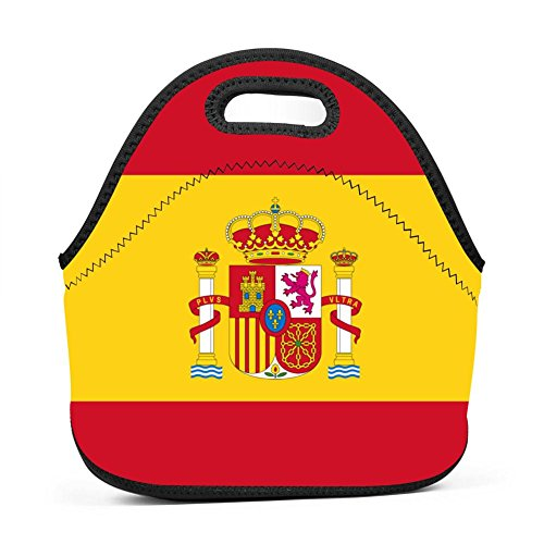 Flag of Spain Spanish Lunch Bag Bento Pouch Lunchbox Portable Baby Bag Multifunctional Satchel Tote for Outdoor Tour School Office Picnic by SeLub