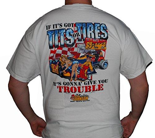 - Big Johnson Tits or Tires - Dirt Track Racing - XL
