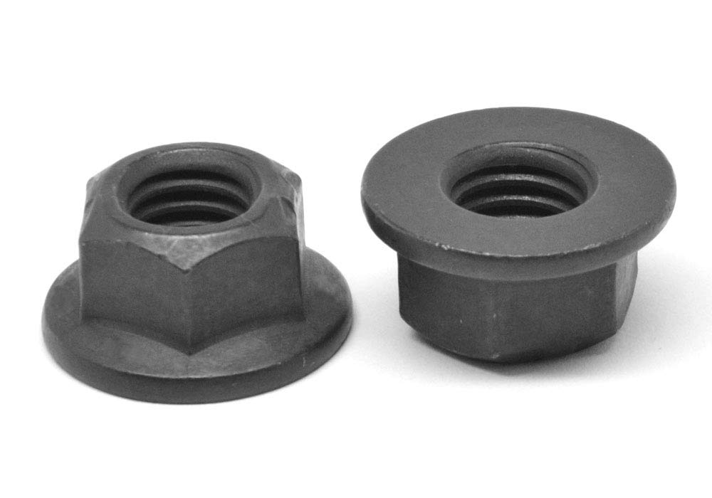 1/4-20 Coarse Thread Grade G Stover All Metal Flange Locknut Medium Carbon Steel Black Phosphate Pk 1500 by ASMC Industrial