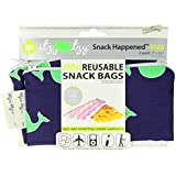 Itzy Ritzy MSWB8056 Snack Happened Mini Reusable Snack Bag, 2-Count (Whale Watching Blue)