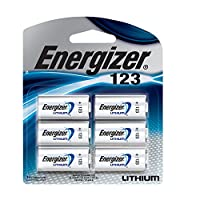 Pilas de litio Energizer 123, paquete de 6