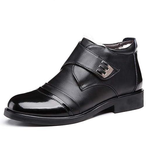 88a7bb4bb9b Zapatos De Vestir De Negocios De Invierno Botines para Hombre Botas De  Nieve Forradas De Piel De Charol Botas Cortas para Adultos: Amazon.es:  Zapatos y ...