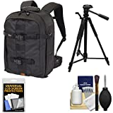 Lowepro Pro Runner BP 350 AW II DSLR Camera Backpack Case (Black) with Tripod + Accessory Kit