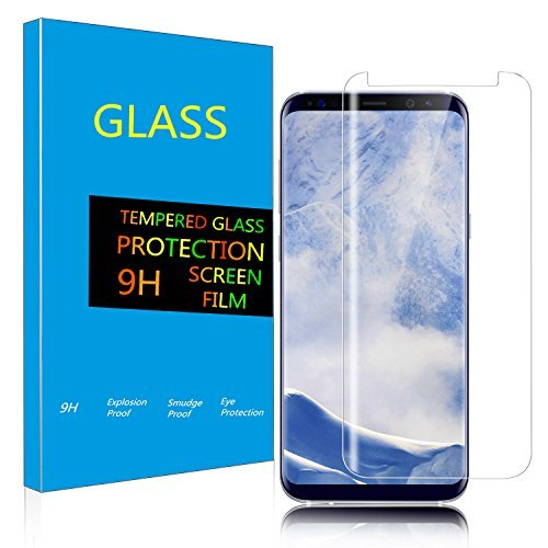 Kangrendigital Samsung Galaxy S9 Screen Protector, Galaxy S9 Tempered Glass Screen Protector, Full Coverage//HD Clear/Case Friendly/Screen Protector Film for Samsung Galaxy S9