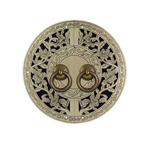 Handle,Ming and qing dynasties Handle Handle chinese Door Handle Antique brass Handle Vintage Handle Classical door Handle Furniture Handles 11cm single hole u-shaped needle installation-A Needle Hole Plate