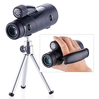 Yooeur 12X50 Monocular Telescope-Compact Short-range Spotting Scope-Waterproof Fog Dust proof- Single Hand Focus -Lifetime Warranty
