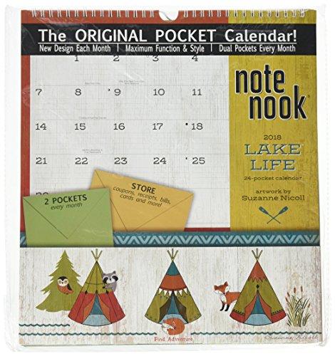 The LANG Companies WSBL Lake Life 2018 Note Nook Office Wall Calendar (18997007210)