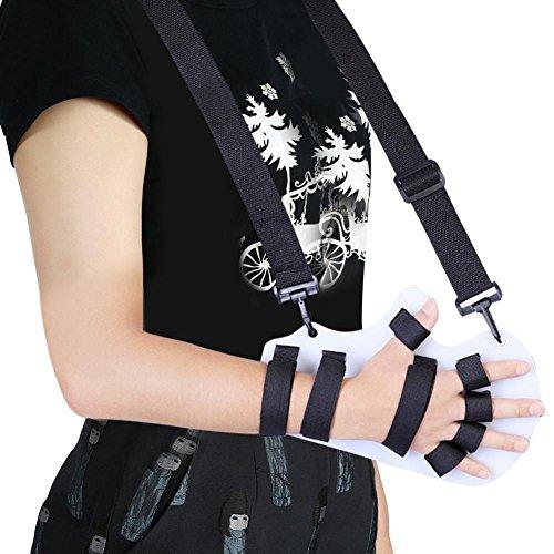 ZJchao Finger Orthotics, Fingerboard with Sling Stroke Hand Splint Training Support Splint