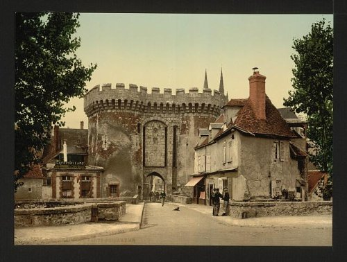 HistoricalFindings Photo: Guillaume gate, Chartres, France,c1895 -