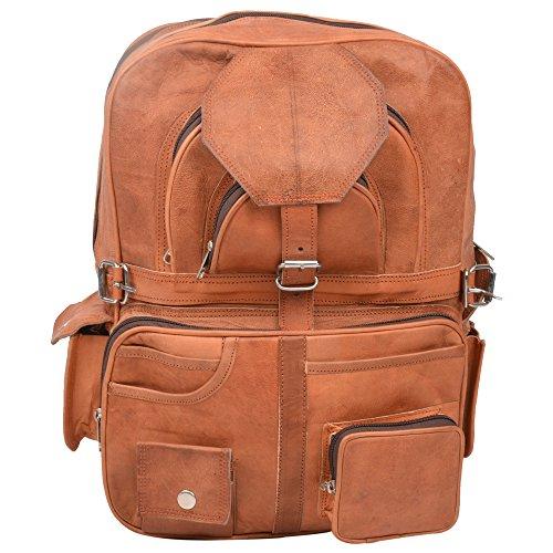Desert Town handgearbeitet Exklusiv Braun Echtem Leder Schultergurt Rucksack/Schule Tasche/Reisetasche