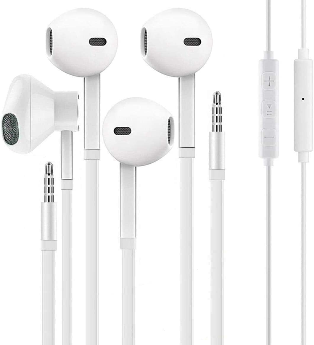 [2Pack] for iPhone Earbuds 3.5mm Wired Headphones Noise Isolating with Built-in Mic&Volume Control Earphones Compatible with iPhone 6S/6S Plus/6/6 Plus/SE 5S Android MP3/MP4/PC