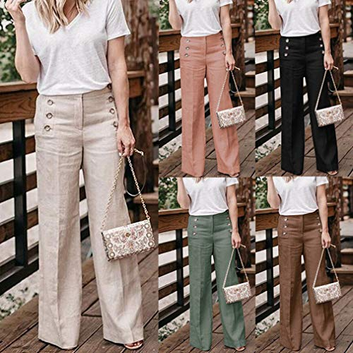 Loose Couleur Leggings Casual lgant Pantalons Unie OL Taille Femme Pantalon Longs Pantalon Jambe Bureau Large Orange La 4XL Fit Plus S Mode agOvqFPn0g