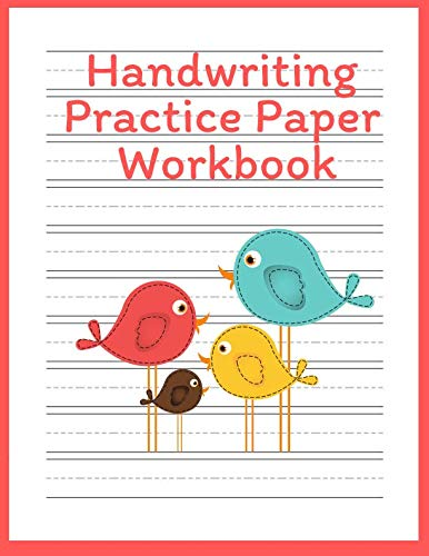 Manuscript Letter Practice - Handwriting Practice Paper Workbook: Blank Lined Notebook Primary Ruled With Dotted Midline, Cute Cat Composition Book For Kids From Kindergarten To 3rd Grade