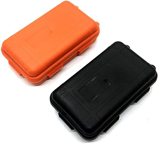 EPRHY - Caja de Almacenamiento hermética de plástico Resistente al Agua, a Prueba de Golpes, Caja de Supervivencia pequeña, 2 Unidades: Amazon.es: Hogar