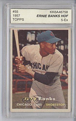 Ernie Banks Other ENCASED IN SLAB (Baseball Card) 1957 Topps - [Base] #55