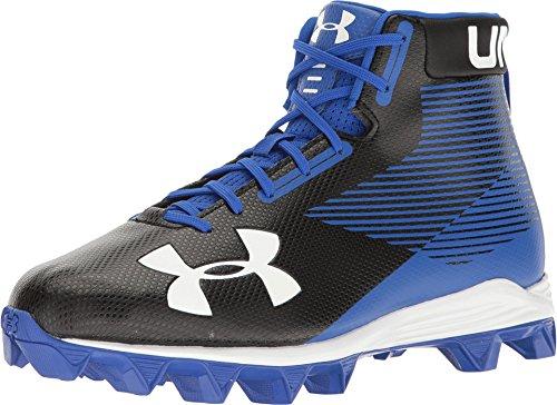 Under Armour Men's Hammer Mid RM Football Shoe, Black/Team Royal, 14 M (Team Hammer)